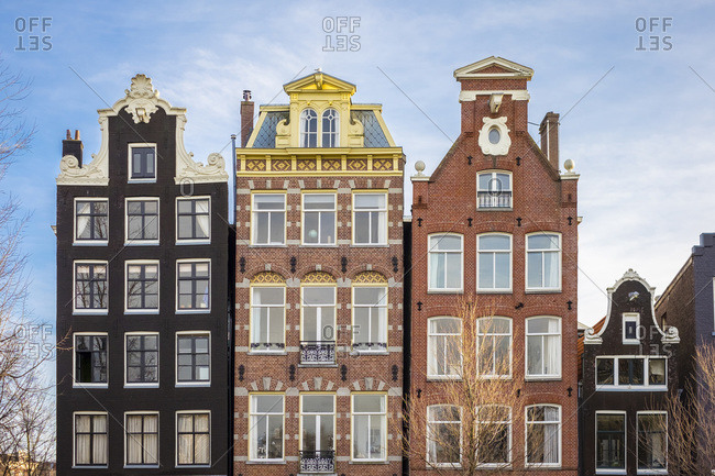 Canal houses on Herengracht canal, Grachtengordel, Amsterdam, Netherlands