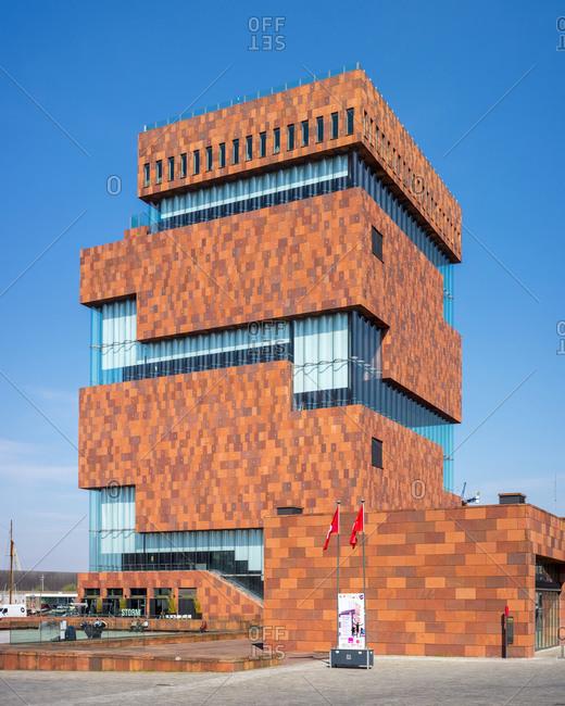 Antwerp, Flanders, Belgium - April 11, 2016: MAS Museum, Museum aan de Stroom, Antwerp, Belgium