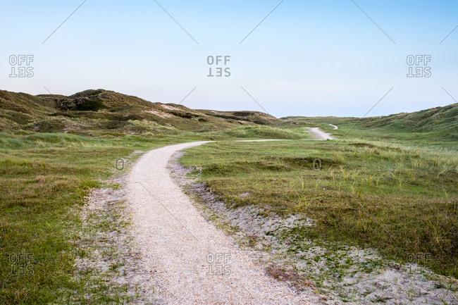 Walking path through the dunes, Julianadorp, Netherlands