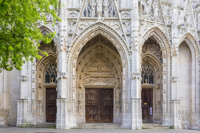 Portal entrance to Eglise Saint-Maclou church, Rouen, Normany, France