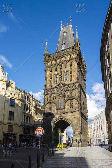 Prague, Czech Republic - May 30, 2016: Prasna brana, Powder Gate or Powder Tower, Prague, Czech Republic
