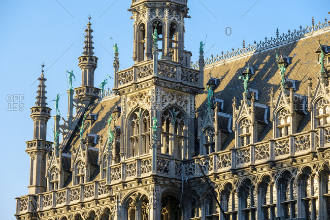 Brussels, Belgium - September 8, 2016: Maison du Roi or Broodhuis on the Grand Place (Grote Markt), UNESCO World Heritage Site, Brussels, Belgium