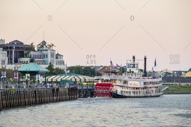 New Orleans, Louisiana, United States - September 29, 2016: Steamboat Natchez on the Mississippi River, New Orleans, Louisiana, United States