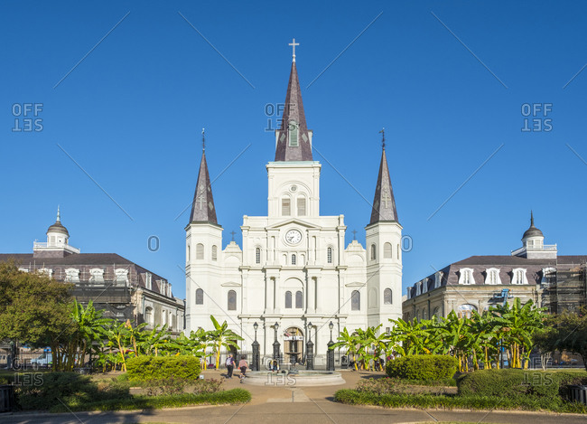 New Orleans, Louisiana, United States - October 12, 2016: Saint Louis Cathedral on Jackson Square in the French Quarter, New Orleans, Louisiana, United States