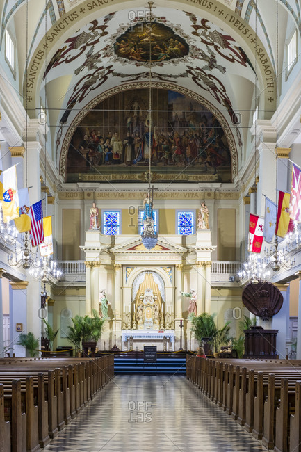 New Orleans, Louisiana, United States - October 13, 2016: Interior of Saint Louis Cathedral, New Orleans, Louisiana, United States