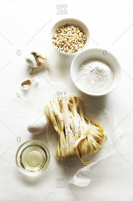 Fresh Pasta Making Ingredients Still Life