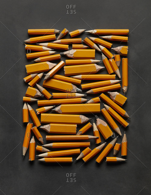 Cluster of Pencils Arranged in Tablet