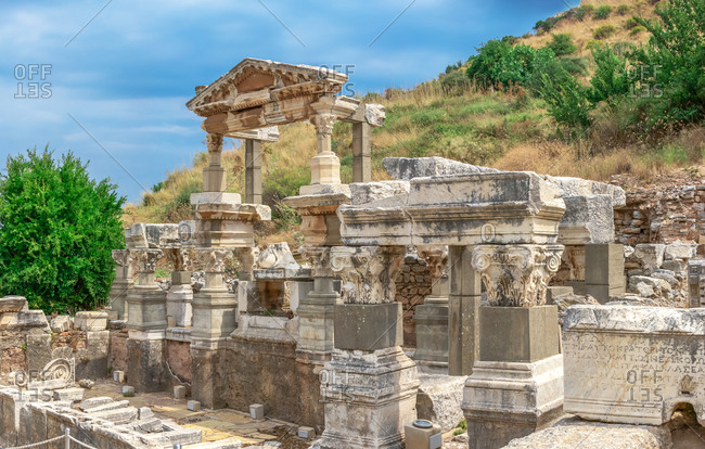 The Fountain of Trajan in Ephesus, Turkey