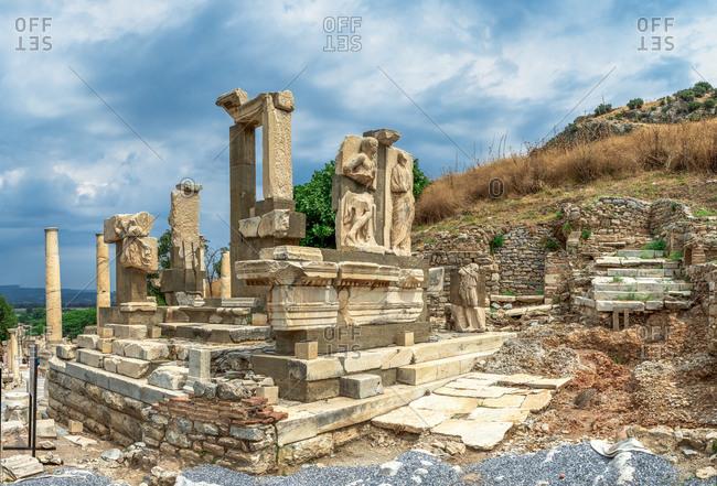 Polyphemus statues in the ancient Ephesus, Turkey