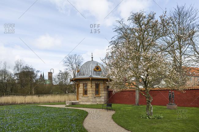 Denmark- Ribe- Footpath in springtime park