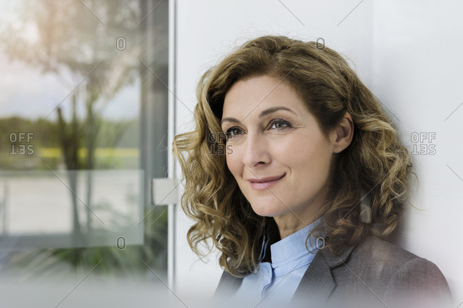 Portrait of successful businesswoman- smiling