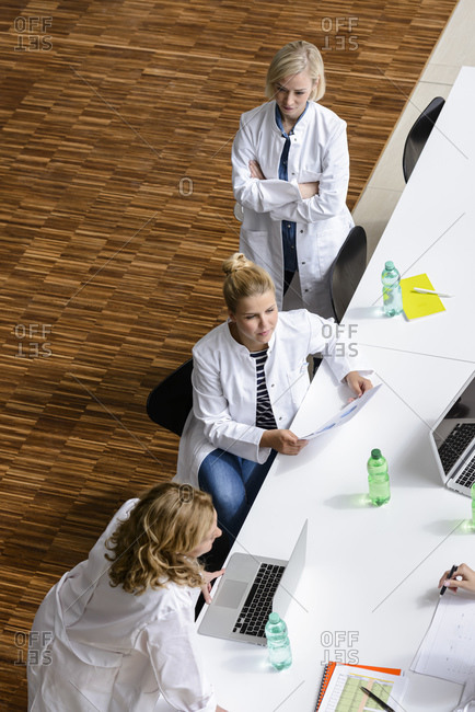 Female doctor in a meeting in conference room