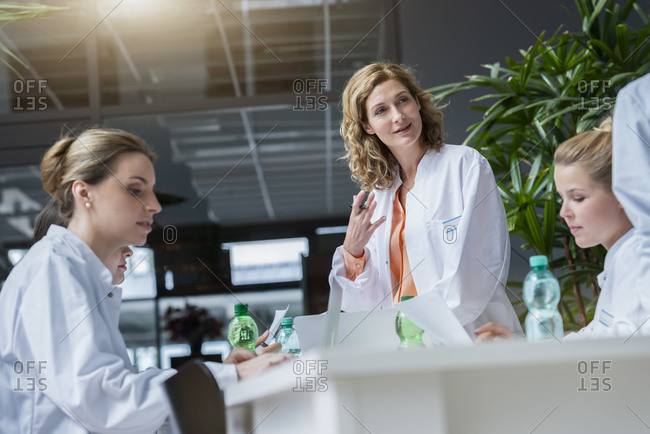 Female doctors having a meeting in conference room