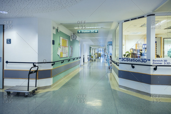 Empty ward in hospital during the day
