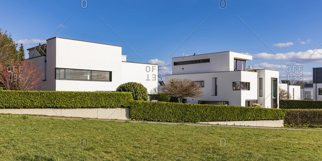 Germany- Baden-Wurttemberg- Ludwigsburg- Modern suburb houses