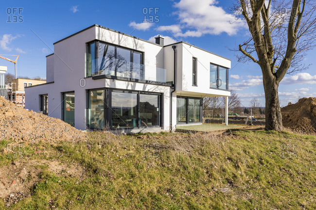 Germany- Baden-Wurttemberg- Ludwigsburg- Modern suburb house
