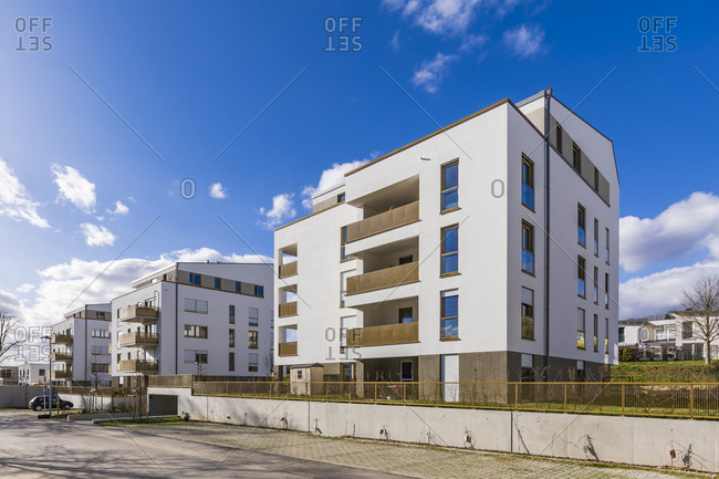 Germany- Baden-Wurttemberg- Ludwigsburg- Modern suburb apartment buildings