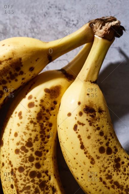 Close up of ripe bananas