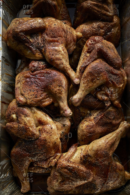 Seasoned chicken at BBQ restaurant