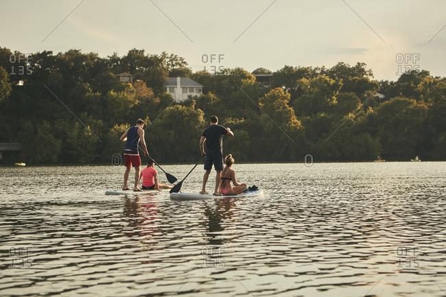 Standup paddleboarding in Austin - Offset