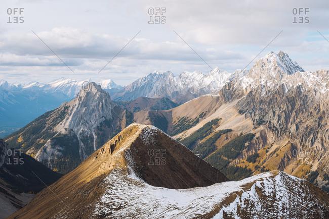 Panoramic view of Canadian Rockies, Alberta, Canada