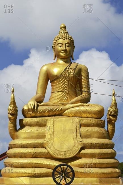 Golden Buddha, Big Buddha project, Ko Nakkerd, Phuket Island, Southern Thailand, Southeast Asia