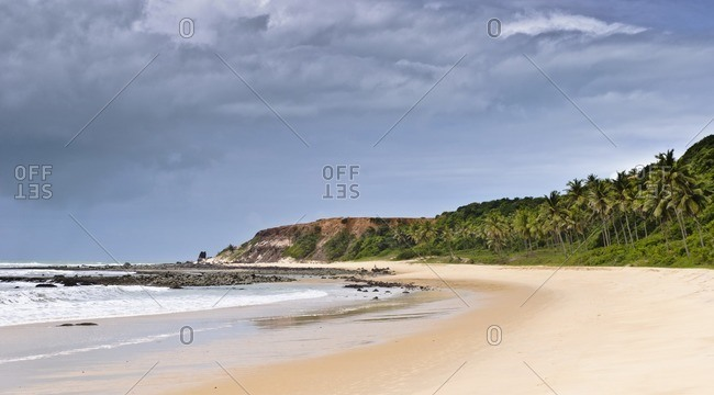 Storm clouds in front of Praia do Amor, Praia da Pipa, Rio Grande do Norte, Brazil, South America