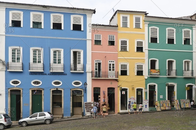 August 6, 2010: Buildings at Largo do Pelourinho, Salvador da Bahia, Brazil, South America