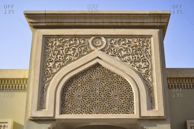 Details, decorations, Al Noor Mosque, Corniche Street, Emirate of Sharjah, United Arab Emirates, Arabian Peninsula, Middle East