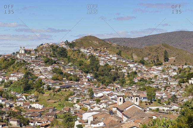 View over Ouro Preto, Minas Gerais, Brazil, South America