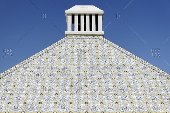 Roof decorated with mosaic, Praia del Rey, Atlantic coast, Obidos province, Portugal