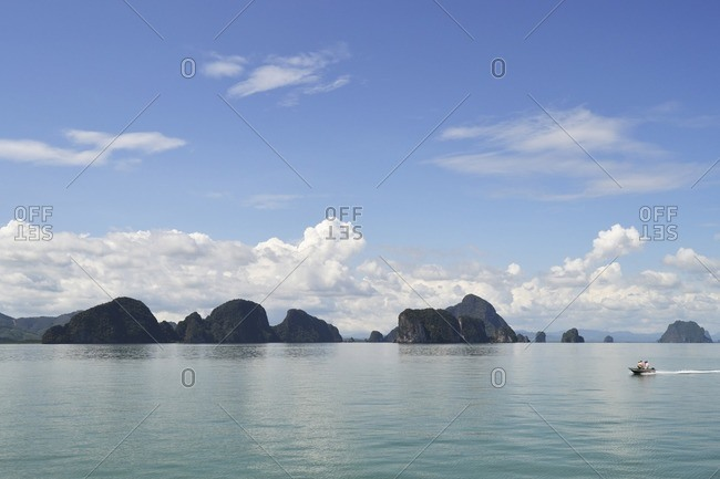 Islands in the bay of Pang Nga, southern Thailand, Southeast Asia