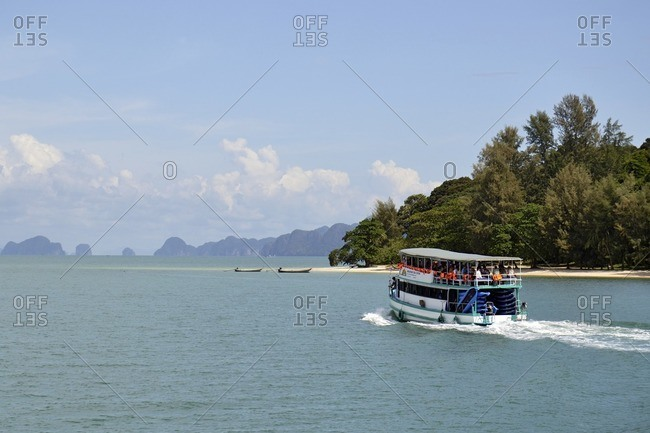 November 29, 2011: Islands in the bay of Pang Nga, southern Thailand, Southeast Asia