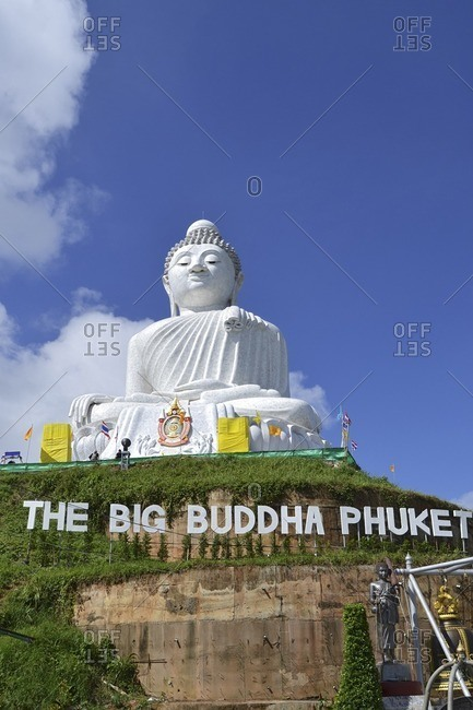 November 28, 2011: The Big Buddha, world's largest Buddha figure, Phuket Island, Southern Thailand, Southeast Asia