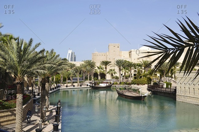 February 15, 2012: historically, Souk Madinat, Jumeirah, Emirate of Dubai, United Arab Emirates, Arabian Peninsula, Middle East
