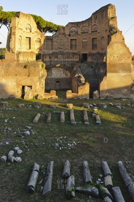 Stadium of the Domitian, Roman Forum, Rome, Italy, Southern Europe, Europe
