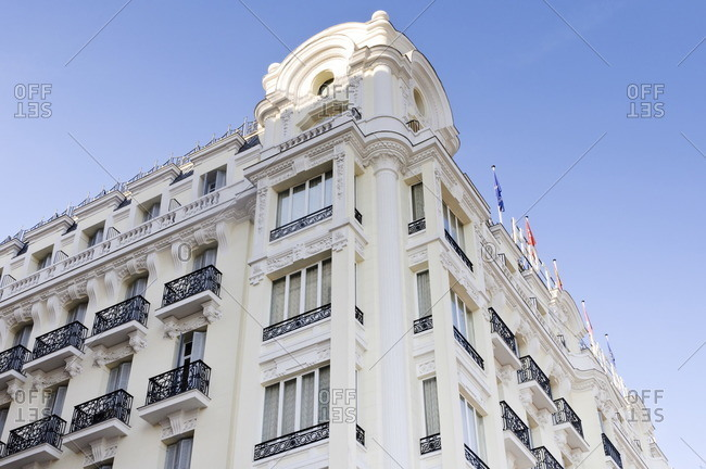 Historic buildings on Calle de Sta. Isabel, Madrid, spain