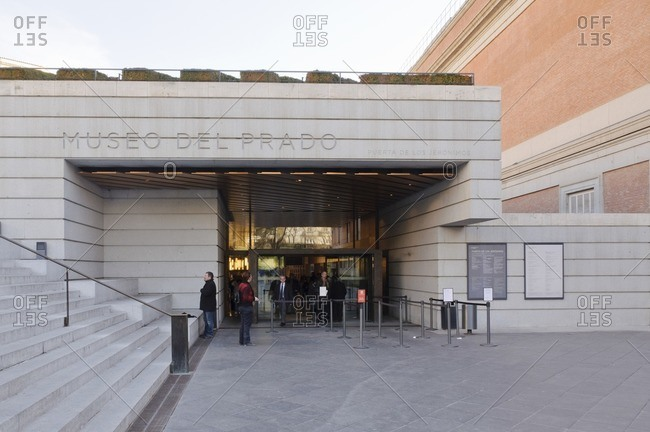 February 21, 2012: Entrance of the Museo Nacional del Prado, Madrid, Spain