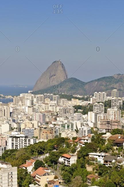 View of Rio de Janeiro with sugar loaf, Brazil, South America