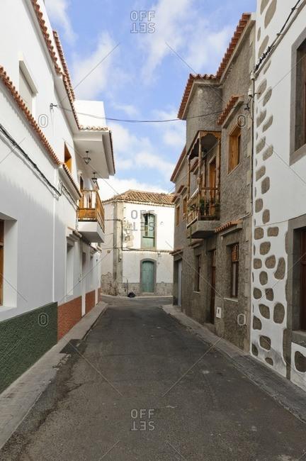 Alley in Canarian village, Gran Canaria, Canary Islands, Spain