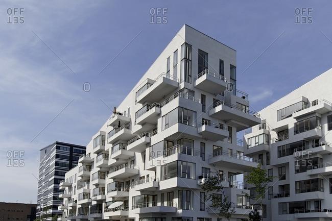 May 20, 2012: modern architecture, apartments, Vesterbro, Sydhavnen, Copenhagen, Denmark, Scandinavia