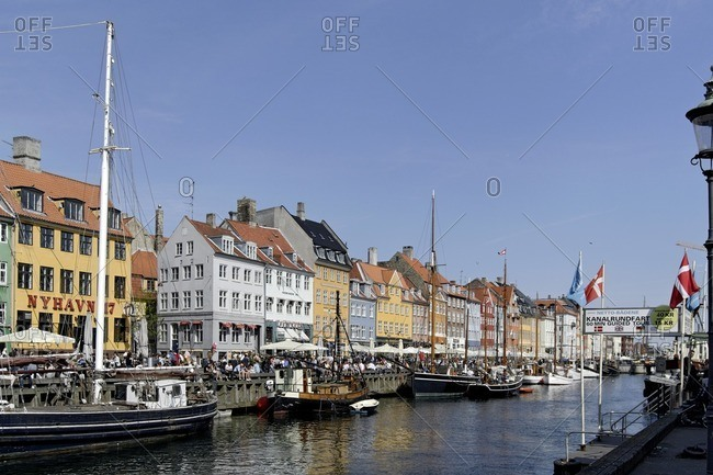 May 20, 2012: Nyhavn entertainment district, Copenhagen, Denmark, Scandinavia