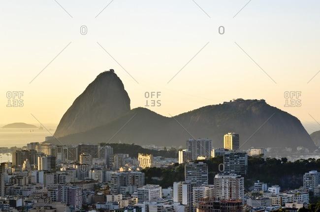View Flamengo to Sugarloaf Mountain, Rio de Janeiro, Brazil, South America