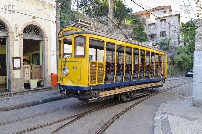 August 23, 2010: Tram in Rio de Janeiro, Brazil, South America