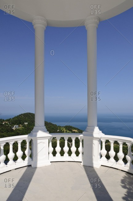 Viewing platform, Crimean Mountains, Yalta, Autonomous Republic of Crimea, Ukraine, Eastern Europe