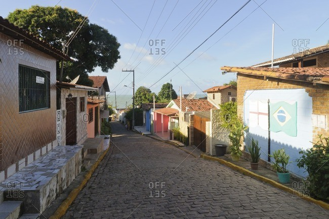 Alley in Praia da Pipa, Rio Grande do Norte, Brazil, South America