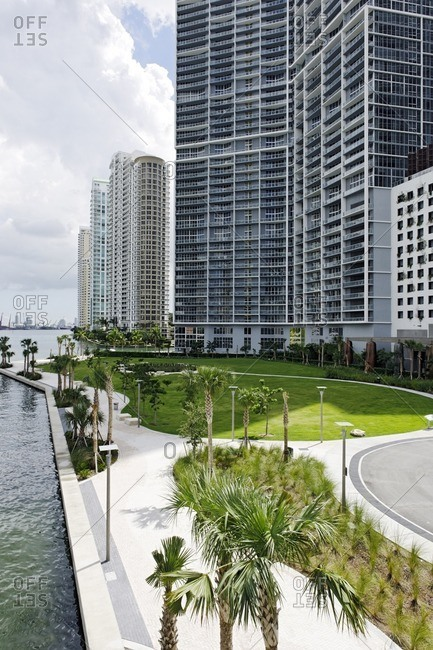 EPIC Marina and Miami River Walk, Downtown Miami, Florida, USA