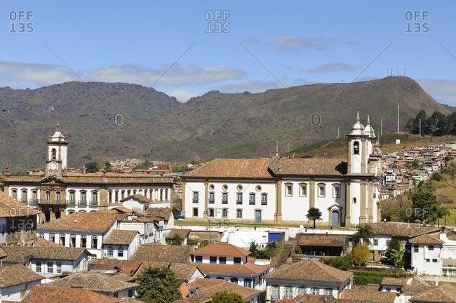 View over Ouro Preto, Minas Gerais, Brazil, South America