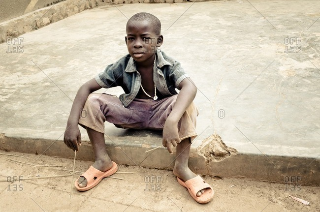 February 18, 2012: Street child, Kampala, Uganda, East Africa, Africa