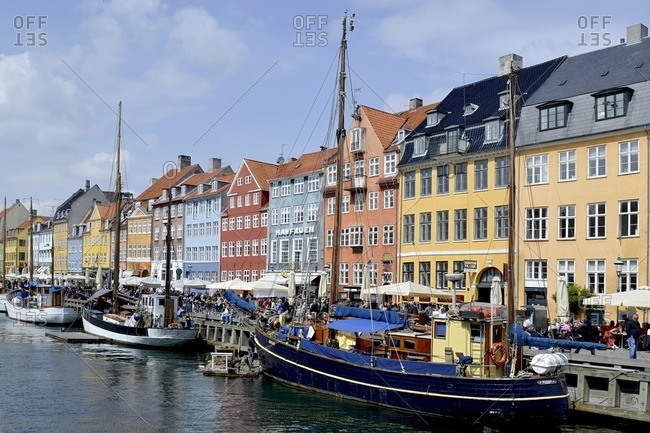 May 18, 2012: Nyhavn entertainment district, Copenhagen, Denmark, Scandinavia